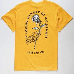NEW LAST CALL TILLY'S IN LOVING MEMORY T-SHIRT M